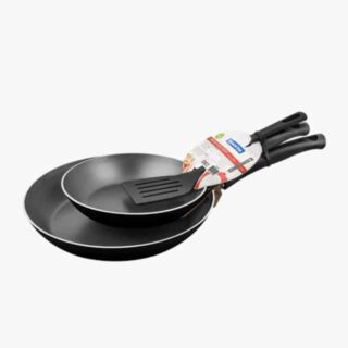 3 Pcs Frying Pan Set 25 cm + 30 cm