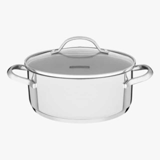 24 cm 4.8 liters Casserole Shallow Stainless Steel Triple Bottom and Induction Ready!