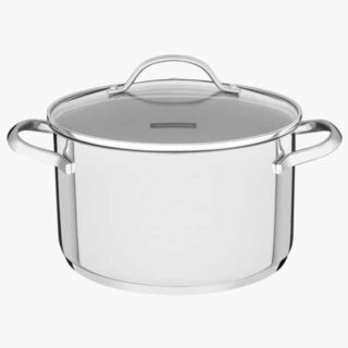 24 cm and 6.1 liters Deep Casserole Stainless Steel Triple Bottom and Induction Ready!