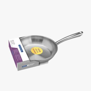24 cm and 2.10 L Frying Pan Stainless Steel  with Triple Bottom and Induction Ready!