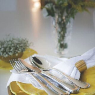 Luxury Flatware Collection 101 pcs 18/10 Stainless Steel 24k Gold Details with Wooden Case