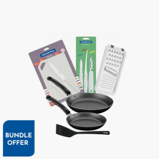 3 Pcs Frying Pan Set + 3pc Set For Meats And Vegetables + 3 Pcs. Cutlery Set Athus + 1 pc Grater Utilita