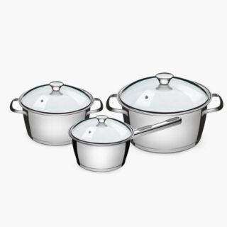 6 pcs Cookware Set Stainless Steel