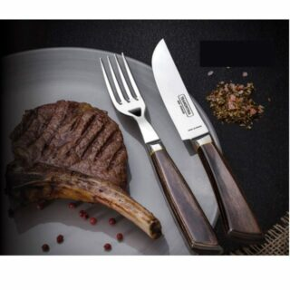 Steak Line 5 inches Forged Jumbo Knife Serrated Polywood Handle