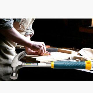 16 oz Claw Hammer Polished Tubular Steel Handle