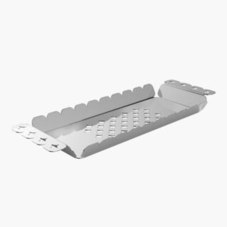 Rectangular Tray  33 x 11 cm Fully Made in Stainless Steel  with Hollowed Out Design