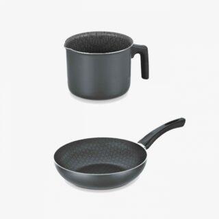 28 cm deep frying pan + 14 cm boiler
