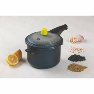 Pressure Cooker 4,5 liters Non-Stick with 4 Safety Valves including Exclusive Locking System and Ergonomic Handle