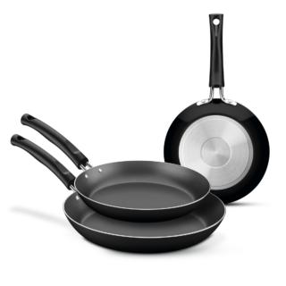 3 pcs Aluminum frying pan set with internal Starflon T1 non-stick coating