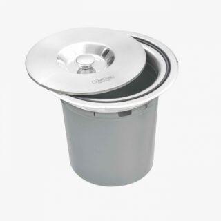 5 liter  Stainless Steel Inset Trash Bin with  Plastic Bucket