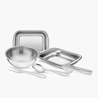 7 pcs Stainless Steel Serving Set with All You Need to Serve in Elegance