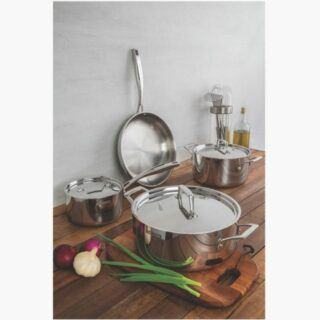 7 pcs Cookware Set Stainless Steel Body and Lid -Triple Body and Bottom Distinguished Design