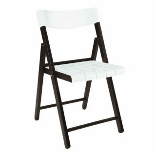 Potenza Chair with Tobacco Tauarí Wood and White Plastic