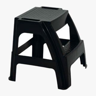 Paiva black polypropylene foot stool