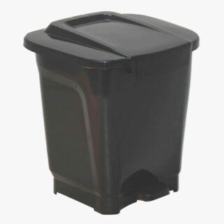 25L ,T-Force Black Polypropylene Trash Can