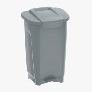 50L Trash Can T-Force Gray Polypropylene