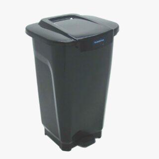 100L Trash Can T-Force black polypropylene,