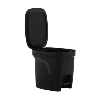 T-Force Black Polypropylene Compact Trash Can  7L