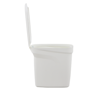 7 L -T-Force White Polypropylene Compact Trash Can