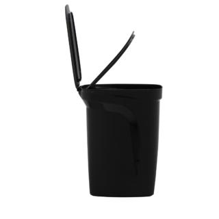 T-Force Black Polypropylene Compact Trash Can  10L