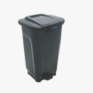 50L Trash Can T-Force Black Polypropylene trash can