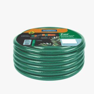 Flex garden hose, 15 m, thread connectors and sprayer