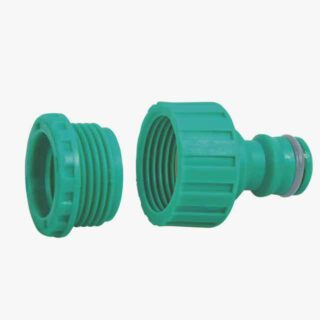 """Female adapter, with 3/4"""" thread and 1/2"""" reducer for faucets"""