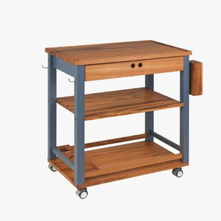 FSC Big Serving Cart with Wood + Stocks and Holders - Churrasco