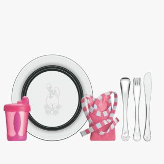 Tramontina Le Petit pink stainless steel children's meal set, 6 pc set
