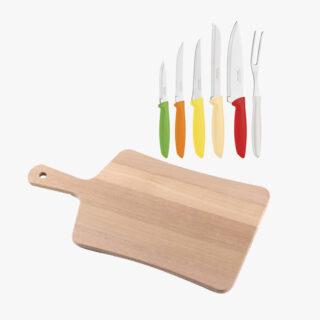 6 pcs knife set + Wooden Board