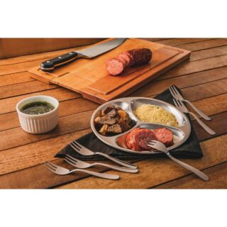 Tramontina Utility stainless steel snack serving dish