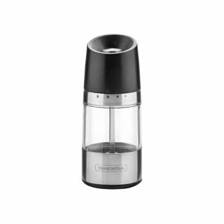 Tramontina stainless steel and acrylic salt and pepper mill