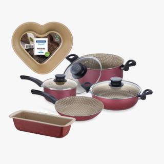 24cm Cake Mold Brasi, 30cm Bread Mold Bras, 7 Pcs Cookware Set P