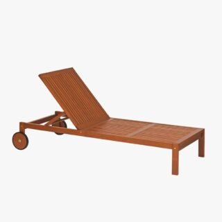 Chaise Longue with Jatobá Wood Natural Finished - Tramontina Fitt