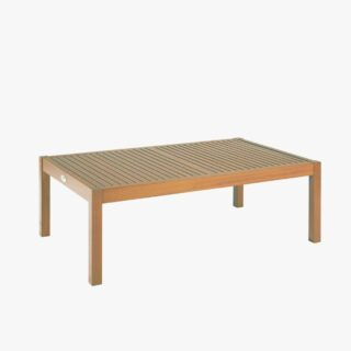 Rectangular Coffee Table with Jatobá Wood Natural Finished - Tramontina Fitt