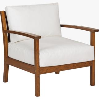 Armchair Natural Jatobá Wood and Upholstered Acqua Block Tramontina Fitt