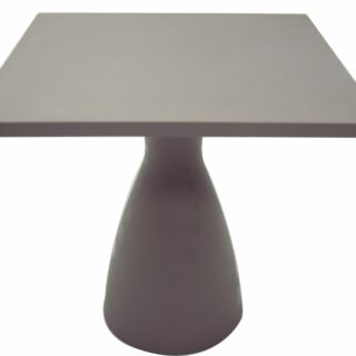 Square Table Flut gray