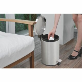 stainless steel pedal trash bin and removable internal bucket 5 L