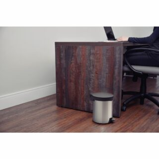 Tramontina New stainless steel pedal trash can with polished finish, 5 L