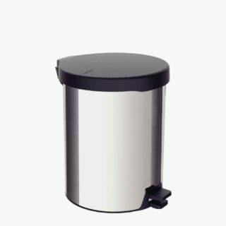 Tramontina New stainless steel pedal trash can with polished finish, 12 L